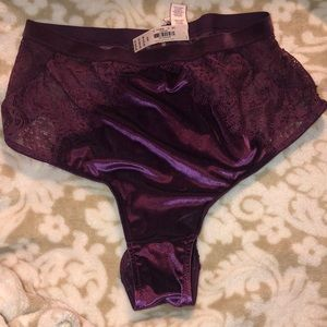 PURPLE VELVET & LACE VS PANTIES